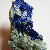 Azurite<br />Tsumeb Mine, Tsumeb, Otjikoto Region, Namibia<br />25mm x 34mm x 22mm<br /> (Author: Heimo Hellwig)