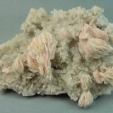 Barite on Quartz<br />Weldon Mine, Ben Nevis Mountains, Tohono O'odham Indian Reservation, Quijotoa District, Pima County, Arizona, USA<br />6.5cm x 4.8cm<br /> (Author: rweaver)