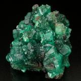 Beryl (variety emerald)<br />Chivor mining district, Municipio Chivor, Eastern Emerald Belt, Boyacá Department, Colombia<br />Cluster=43x36x38mm<br /> (Author: Fiebre Verde)