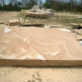 Quartz (variety sandstone) and limonite<br />Kipton Sandstone Quarry, Kipton, Lorain County, Ohio, USA<br /><br /> (Author: Pete Richards)