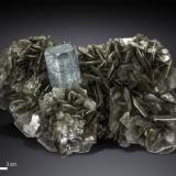 Beryl (variety aquamarine)<br />Nagar, Hunza Valley, Nagar District, Gilgit-Baltistan (Northern Areas), Pakistan<br />135 X 82 mm<br /> (Author: Manuel Mesa)