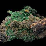 Malachite<br />Friedrich Mine, Schönstein (Steckenstein), Wissen, Flammersfeld, Altenkirchen (Westerwald), Siegerland, Rhineland-Palatinate/Rheinland-Pfalz, Germany<br />6 cm<br /> (Author: Gerhard Brandstetter)