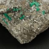 Beryl (variety emerald), Calcite, Pyrite<br />Chivor mining district, Municipio Chivor, Eastern Emerald Belt, Boyacá Department, Colombia<br />107x95x40mm, xls upto 10mm<br /> (Author: Fiebre Verde)