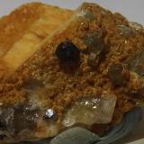 Garnet with Fluorapatite on Orthoclase<br />Megiliggar Rocks, Tremearne, Porthleven, Cornwall, England / United Kingdom<br />3cm x1.4cm<br /> (Author: markbeckett)