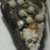 Datolite with Calcite<br />Parc Bean Cove, Mullion, Lizard Peninsula, Cornwall, England / United Kingdom<br />4.5cm x 3cm<br /> (Author: markbeckett)