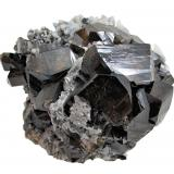 Cassiterite, Quartz<br />Viloco Mine, Loayza Province, La Paz Department, Bolivia<br />98 mm x 90 mm x 72 mm. Main cassiterite crystal: 40 mm wide<br /> (Author: Carles Millan)