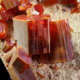 Vanadinite<br />ACF Mine area, Mibladen mining district, Mibladen, Midelt, Midelt Province, Meknès-Tafilalet Region, Morocco<br />main crystal 9 mm<br /> (Author: Enrique Llorens)