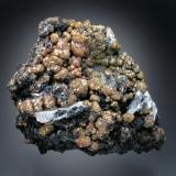 Mimetite<br />Dry Gill Mine, Caldbeck Fells, former Cumberland, Cumbria, England, United Kingdom<br />12x9x5 cm overall size<br /> (Author: Jesse Fisher)