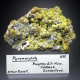 Pyromorphite<br />Roughton Gill, Caldbeck Fells, former Cumberland, Cumbria, England, United Kingdom<br />8x5x2 cm overall size<br /> (Author: Jesse Fisher)