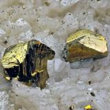 Chalcopyrite<br />Troya Mine, Mutiloa, Comarca Goyerri, Gipuzkoa / Guipúzcoa, Euskadi, Spain<br />FOV 15mm<br /> (Author: Carlos Pareja)
