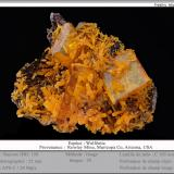 Wulfenite and MimetiteMina Rowley, Theba, Distrito Painted Rock, Montes Painted Rock, Condado Maricopa, Arizona, USAfov 25 mm (Author: ploum)