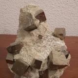 Pyrite<br />Ampliación a Victoria Mine, Navajún, Comarca Cervera, La Rioja, Spain<br />11 cm x 14 cm x 9 cm<br /> (Author: franjungle)
