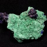 Azurite, Malachite<br />Bou Bekker, Touissit District, Jerada Province, Oriental Region, Morocco<br />82 mm x 58 mm x 23 mm<br /> (Author: Don Lum)