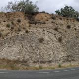 Panorámica de la carretera NA-134, entre KM 44 y 45, Azagra, Ribera del Alto Ebro, merindad de Estella, Comunidad Foral de Navarra, España. (Autor: Carles)