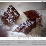 Anatase on Quartz<br />Vallon de la Valette, La Lauzière Massif, Saint-Jean-de-Maurienne, Savoie, Auvergne-Rhône-Alpes, France<br />fov 2 mm<br /> (Author: ploum)