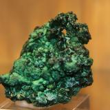 Malachite<br />Kiswishi, Lubumbashi (Elizabethville), Katanga Copper Crescent, Katanga (Shaba), Congo DR (Zaire)<br />47 mm x 52 mm x 34 mm<br /> (Author: franjungle)