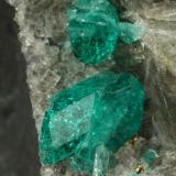 Beryl (variety emerald), Calcite, Pyrite, Muscovite<br />Chivor mining district, Municipio Chivor, Eastern Emerald Belt, Boyacá Department, Colombia<br />126x68x42, xls up to 10mm<br /> (Author: Fiebre Verde)
