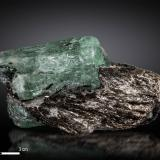 Beryl (variety emerald)<br />Malyshevo, Ekaterinburg (Sverdlovsk), Sverdlovsk Oblast, Ural, Russia<br />92 X 47 mm<br /> (Author: Manuel Mesa)