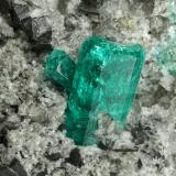 Beryl (variety emerald), Albite (variety cleavelandite), Dolomite, Pyrite<br />Chivor mining district, El Oriente Mine, Municipio Chivor, Eastern Emerald Belt, Boyacá Department, Colombia<br />94x73x49mm, main xls=15 & 13mm<br /> (Author: Fiebre Verde)