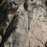 Gneis porfiroblasticoPraia Xilloi, O Vicedo, Comarca da Mariña Occidental, Lugo, Galicia, España (Autor: Jesús López)
