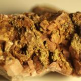 limonite after Pyrite on Dolomite<br />El Almendral Quarry, Road to Berja, Berja, Comarca Poniente Almeriense, Almería, Andalusia, Spain<br />FOV 30 mm<br /> (Author: franjungle)