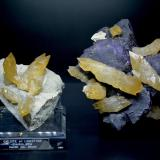 Calcite<br />Denton Mine, Goose Creek Mine group, Harris Creek Sub-District, Hardin County, Illinois, USA<br />Left: 10 cm x 14.2 cm x 11.5 cm, Right: 18.5 cm x 16.9 cm x 9.8 cm<br /> (Author: Turbo)