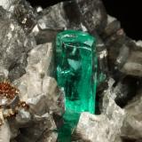 Beryl (variety emerald), Calcite, Pyrite<br />Coscuez mining district, Municipio San Pablo de Borbur, Western Emerald Belt, Boyacá Department, Colombia<br />67x47x55mm, xl=19mm<br /> (Author: Fiebre Verde)