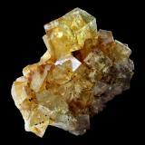Fluorite<br />Hilton Mine, Scordale, Hilton, North Pennines Orefield, former Westmorland, Cumbria, England, United Kingdom<br />Specimen size 4,5 cm, largest fluorite crystal 1,2 cm<br /> (Author: Tobi)
