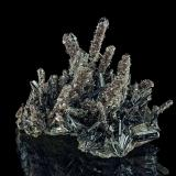 Baryte, Stibnite<br />Roata Mine, Cavnic mining area, Cavnic, Maramures, Romania<br />4,8 x 3,9 x 3,2 cm<br /> (Author: Niels Brouwer)