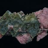 Barite, Rhodochrosite, Shigaite<br />N'Chwaning mining area, Kuruman, Kalahari manganese field (KMF), Northern Cape Province, South Africa<br />6.4 x 3.4 cm<br /> (Author: am mizunaka)