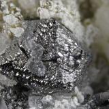 Magnetite<br />Shijiangshan Mine, Linxi, Ulanhad League, Inner Mongolia Autonomous Region, China<br />FOV 1.3 cm<br /> (Author: Cesar M. Salvan)