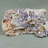 Baryte, Fluorite<br />Komshejeh Mine, Komshejeh (Komshecheh), Ardestan, Isfahan Province, Iran<br />11 * 7 cm<br /> (Author: h.abbasi)