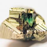 Beryl (variety emerald), Pyrite<br />Colombia<br />W 18mm x H 12mm x D 15mm<br /> (Author: Bergur_E_Sigurdarson)