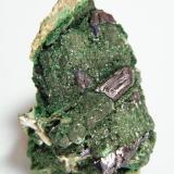 Azurite and Malachite<br />Tsumeb Mine, Tsumeb, Otjikoto Region, Namibia<br />38mm x 38mm x 31mm<br /> (Author: Heimo Hellwig)