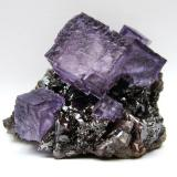 Fluorite, Sphalerite<br />Elmwood Mine, Carthage, Central Tennessee Ba-F-Pb-Zn District, Smith County, Tennessee, USA<br />Specimen size 7,5 cm, largest fluorite 3 cm<br /> (Author: Tobi)