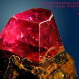 Corundum (variety ruby)<br />Ambohimandrosoa, Antanifotsy District, Vakinankaratra Region, Antananarivo Province, Madagascar<br /><br /> (Author: Roger Warin)