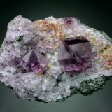 Fluorite<br />Frazer's Hush Mine, Rookhope District, Weardale, North Pennines Orefield, County Durham, England, United Kingdom<br />10x7x4 cm overall<br /> (Author: Jesse Fisher)