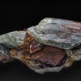 Barite, Hematite, Dolomite<br />Frizington, West Cumberland Iron Field, former Cumberland, Cumbria, England, United Kingdom<br />14.0 x 6.5 cm<br /> (Author: am mizunaka)