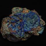Azurite, Malachite<br />Sepon Mine, Vilabouly District, Savannakhét Province, Laos (Lao P.D.R.)<br />10.0 x 7.6 cm<br /> (Author: am mizunaka)