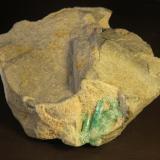 Beryl (variety emerald)<br />Chivor mining district, Municipio Chivor, Eastern Emerald Belt, Boyacá Department, Colombia<br />73mm x 84mm x 43 mm<br /> (Author: franjungle)