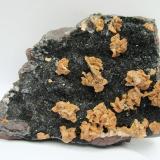 Dolomite, Hematite<br />Florence Mine, Egremont, West Cumberland Iron Field, former Cumberland, Cumbria, England, United Kingdom<br />Specimen size 12 cm, largest dolomite crystals 7 mm<br /> (Author: Tobi)