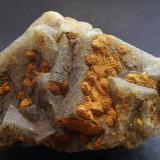 Fluorite, Baryte<br />Old Tor Mine, Castleton, High Peak District, Derbyshire, England, United Kingdom<br />9 x 6 x 6 cm<br /> (Author: James)