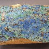 Azurite, Malachite<br />Stahlberg Mine, Trusetal, Floh-Seligenthal, Schmalkalden-Meiningen District, Thuringia/Thüringen, Germany<br />10,5 x 6 cm<br /> (Author: Andreas Gerstenberg)