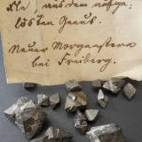 Arsenopyrite<br />Neuer Morgenstern Mine, Muldenhütten, Freiberg District, Erzgebirgskreis, Saxony/Sachsen, Germany<br />Crystals up to 2 cm<br /> (Author: Andreas Gerstenberg)