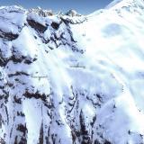 Chumar Bakhoor, Valle Hunza, Distrito Gilgit, Gilgit-Baltistan (Áreas del Norte), Paquistán  Situadas a 4.500 m de altura sobre el nivel del mar, la nieve solo permite trabajar en estas minas unas pocas semanas durante el verano. Foto tomada en el mes de Mayo; la anterior es de Agosto.  imagen © Google Earth (Autor: Josele)