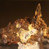 Copper<br />Ray Mines, Scott Mountain area, Mineral Creek District, Dripping Spring Mountains, Pinal County, Arizona, USA<br />Overall size: 46mm x 49mm x 16mm. Crystal size: 24mm x 6mm x 3mm. Weight: 57 g.<br /> (Author: franjungle)