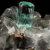 Beryl (variety emerald), Calcite, Pyrite<br />Muzo mining district, Western Emerald Belt, Boyacá Department, Colombia<br />56x31x24mm, xl=12mm<br /> (Author: Fiebre Verde)