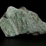 Pyrophyllite (variety Cr-bearing), Pyrite<br />Chivor mining district, San Gregorio Mine, Municipio Chivor, Eastern Emerald Belt, Boyacá Department, Colombia<br />117x72x27mm<br /> (Author: Fiebre Verde)