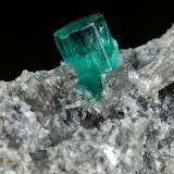 Beryl (variety emerald), Calcite, Pyrite<br />Chivor mining district, Municipio Chivor, Eastern Emerald Belt, Boyacá Department, Colombia<br />39x36x18mm, xl=7mm<br /> (Author: Fiebre Verde)