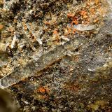 Anglesita<br />Mina Las Cruces, Gerena-Guillena-Salteras, Comarca Sierra Norte, Sevilla, Andalucía, España<br />Cristal mayor de 3 mm.<br /> (Autor: Antonio Carmona)